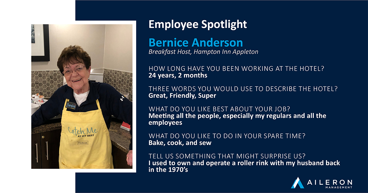 Aileron Management - Bernice Anderson - Hampton Inn Appleton