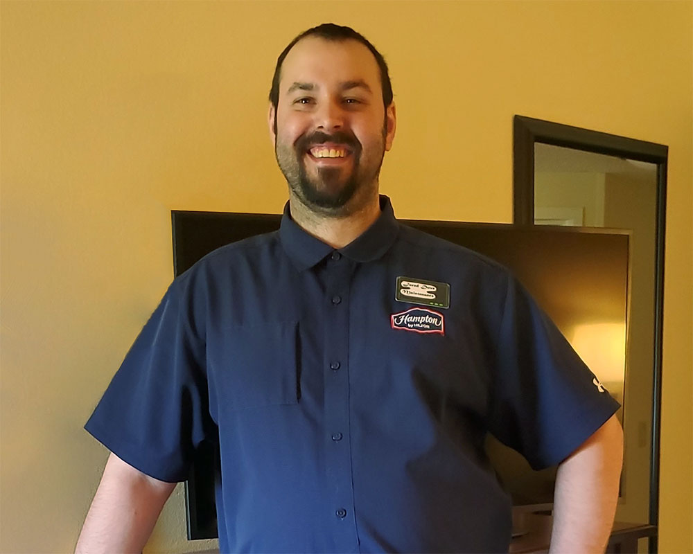 September Employee Spotlight- Jared Dove, Hampton Inn Milwaukee Brookfield