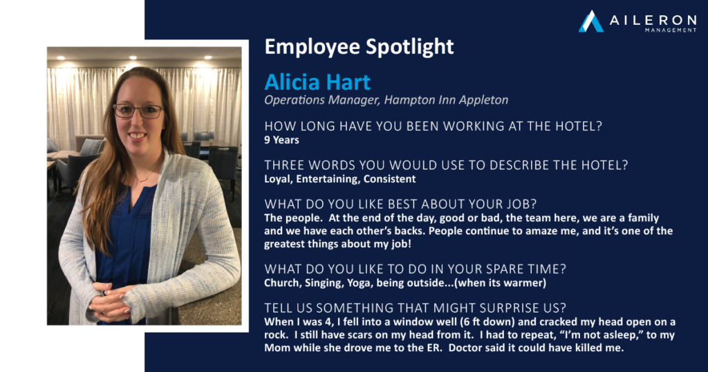 Aileron Management Employee Spotlight: Alicia Hart - Hampton Inn Appleton