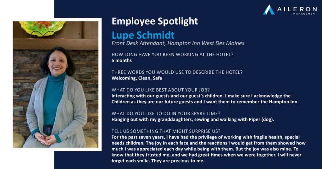 Aileron Management Employee Spotlight: Lupe Schmidt