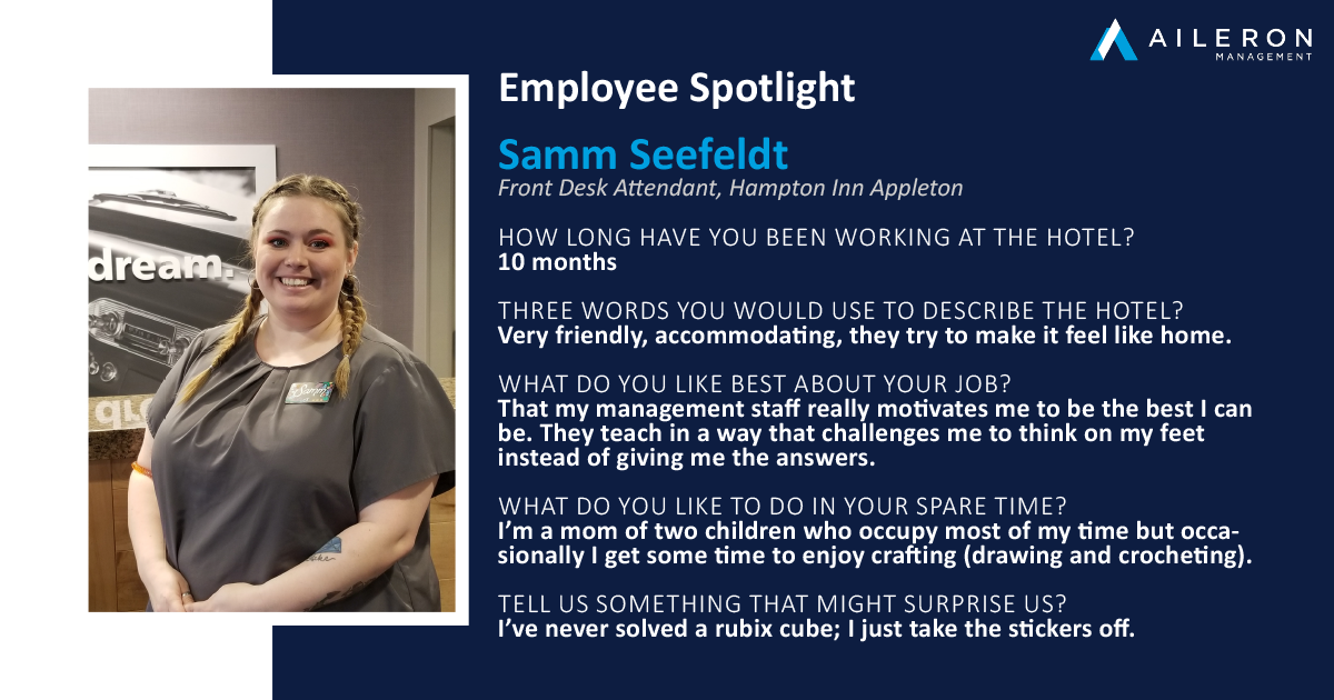 Aileron Management Employee Spotlight: Samm Seefeldt