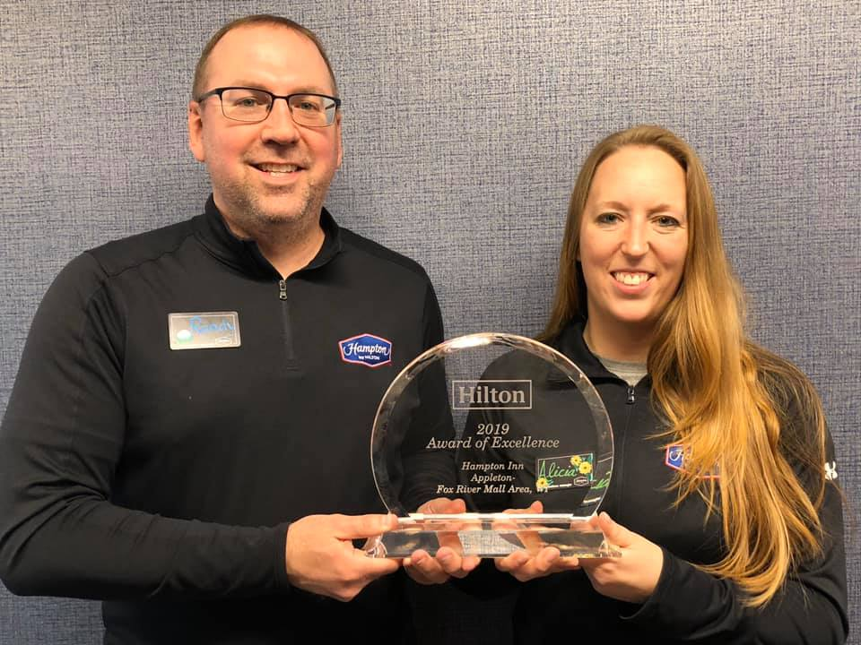 Hampton Inn Appleton - Hilton Award of Excellence 2019